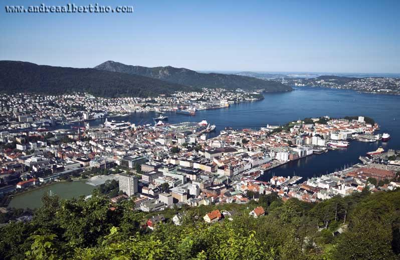 Bergen, View from Fløyen mountain