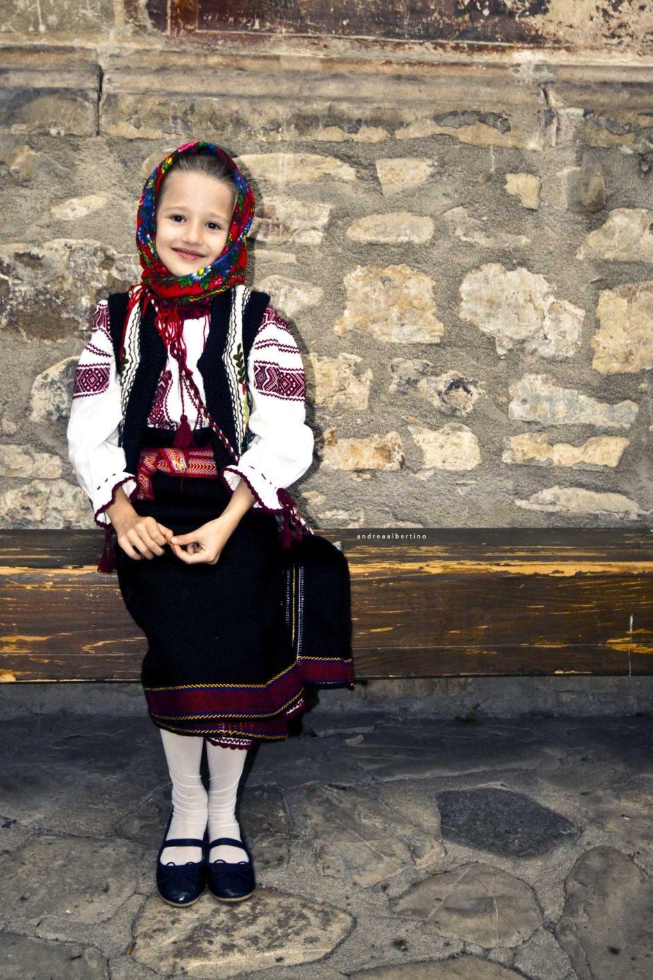 Girl dressed in popular costume, Voronet