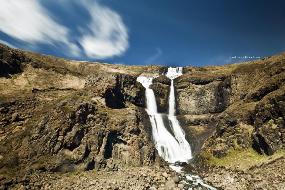Small waterfall along the Ring Road, North Eastern Iceland