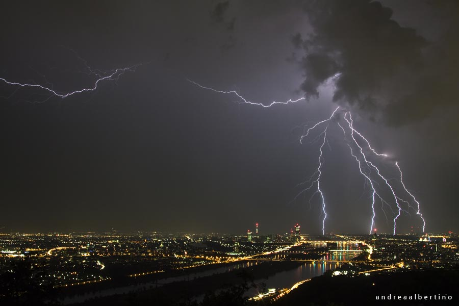 Thunderstorm over Vienna